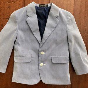 Nautica seersucker jacket boy's 24 months